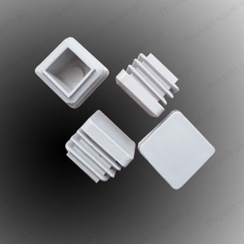 Chân đế nhựa vuông 25mm trắng PB25W (Cái)