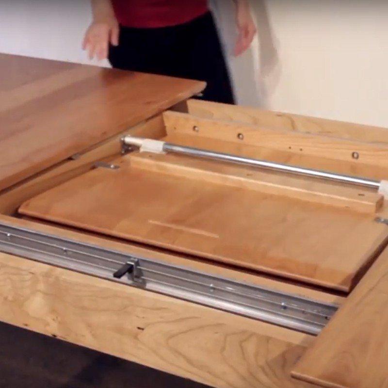Thanh pát xoay inox dài 800mm cho bàn mở rộng TXI