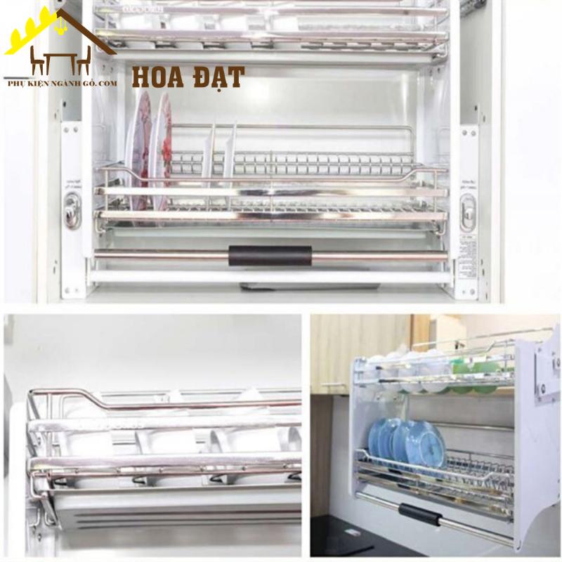 Giá kệ chén đĩa di động inox mờ 700mm Garis VNH000130GR (bộ)