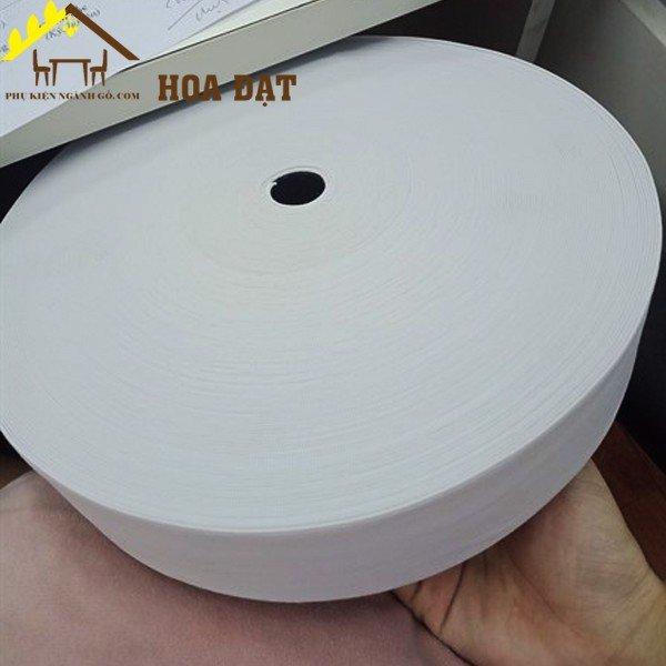 Dây thun dệt màu trắng loại 5 phân ràng nệm giường SP028827 (mét)