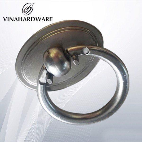 Tay nắm tủ khoen tròn bạc HD0059