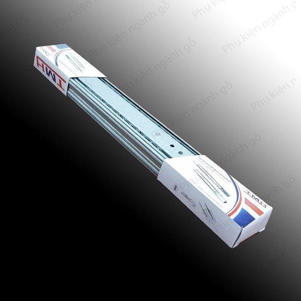 Ray bi 3 tầng, bản 45, dài 250mm, màu kẽm trắng HMT BBS0345250Z3 (Cặp)