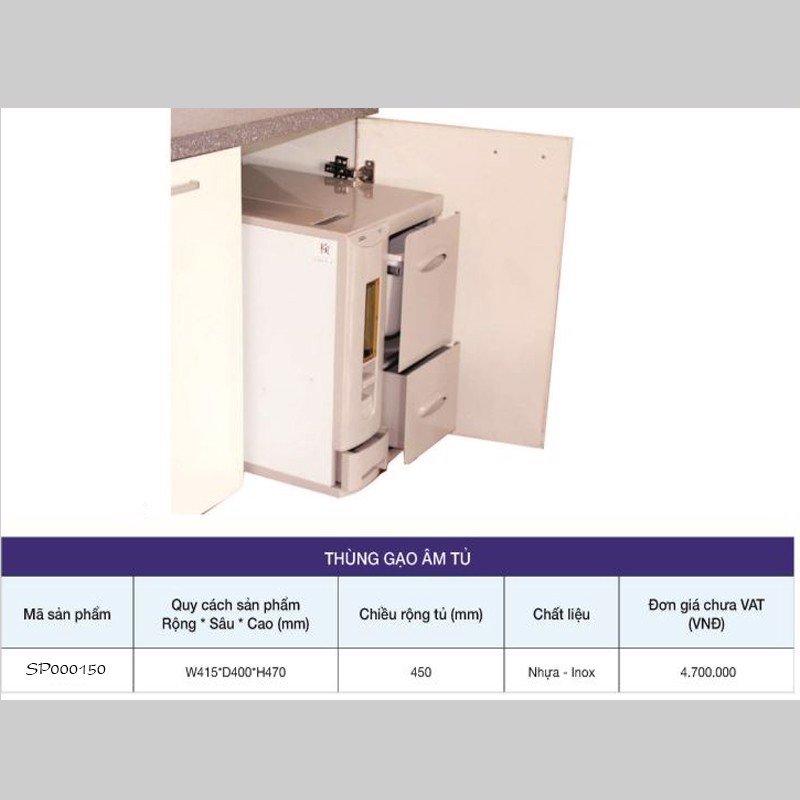 Thùng đựng gạo âm tủ cao cấp SP000150