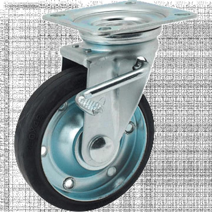 Bánh xe Polyurethane động có khóa Nansin STM-150VU W-3R