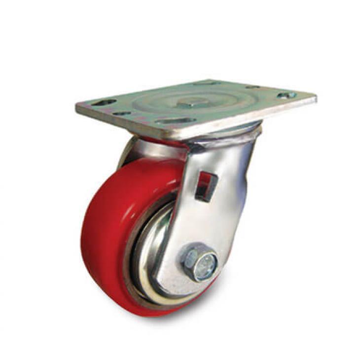 Bánh xe PU đỏ tải trọng trung bình xoay Kyung Chang 4050S A1 PC