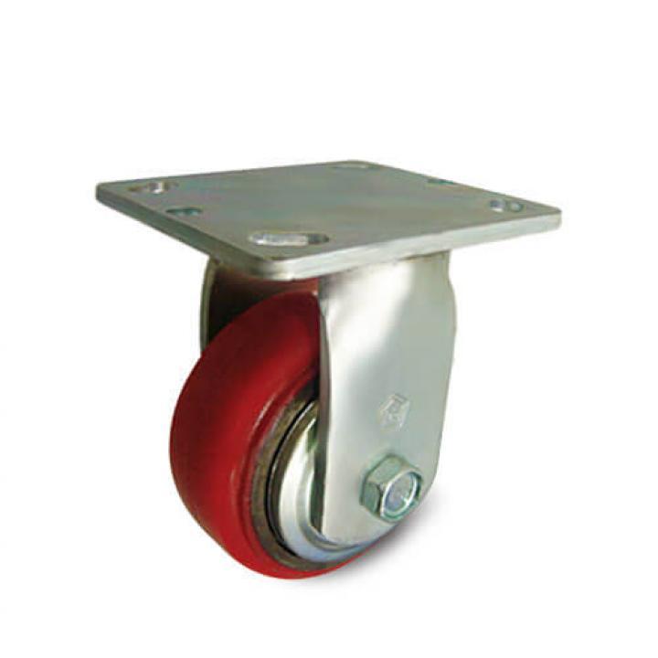 Bánh xe PU đỏ tải trọng trung bình cố định Kyung Chang 4050R A1 PC