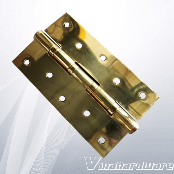 Bản lề lá cửa đi đồng thau cao cấp dài 130mm dày 3mm H1274D