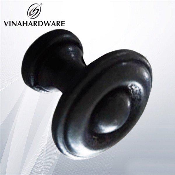 Núm tay nắm tủ màu đen 15mm HD0015B (Cái)