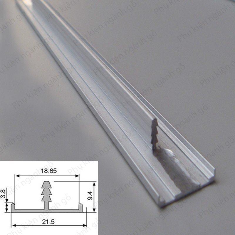 Nẹp nhôm bo viền cạnh (nhiều loại) dài 3m NCB18 (Cây)