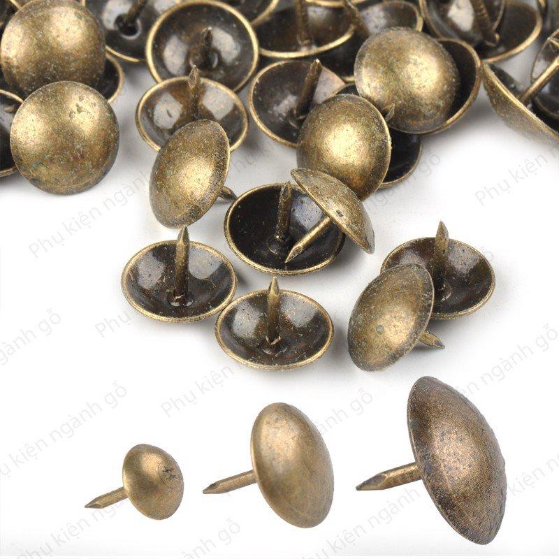 Đinh dù trang trí màu đồng cổ (nhiều kích thước) DS204