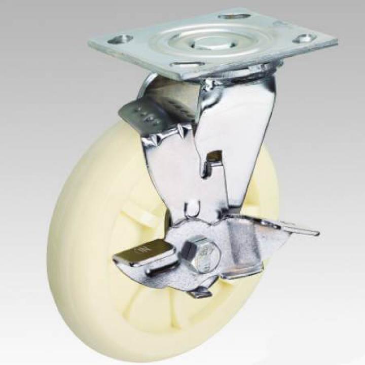 """Bánh xe nylon càng xoay khóa A Caster A8""""-NID-SB"""