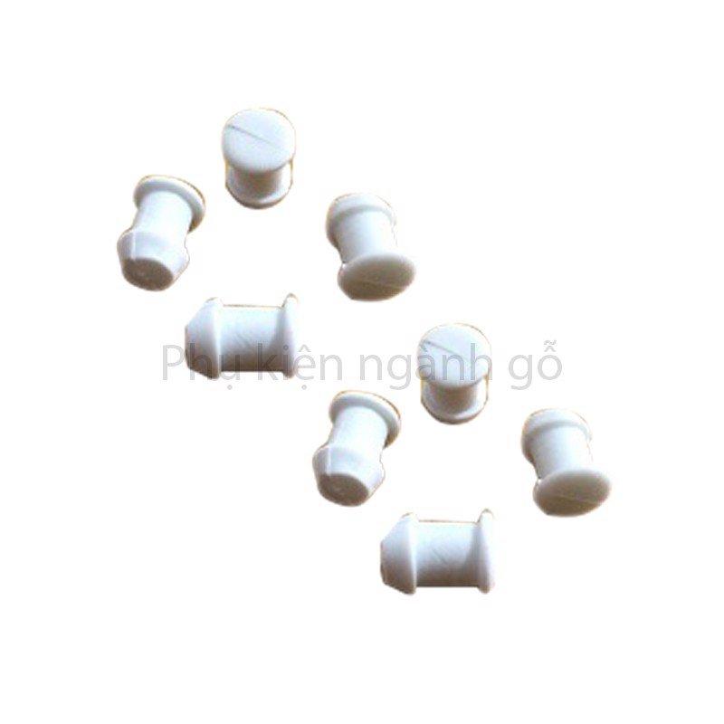 Nút bít lỗ khoét phi 8mm dài 13mm màu trắng WC0813W