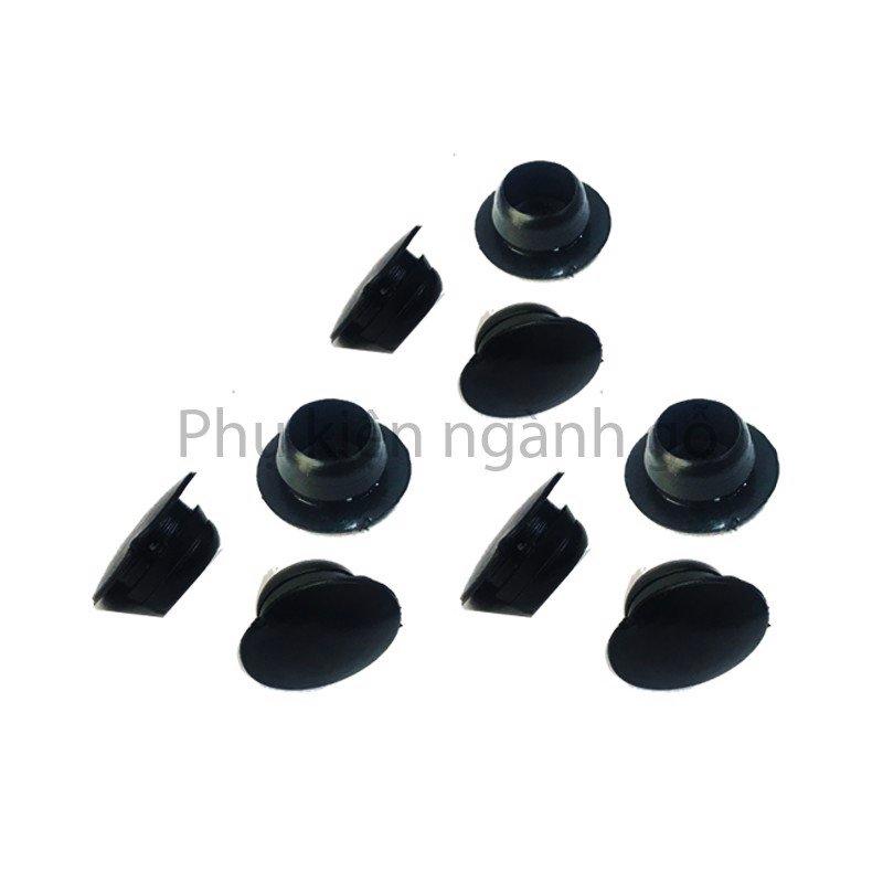 Nút bít lỗ khoét vít màu đen phi 10mm WC010G