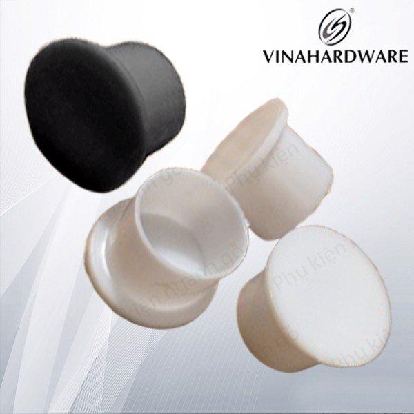 Nắp nút nhựa tròn chụp bít lỗ khoét vít màu trắng phi 20 dài 15mm WC2115W