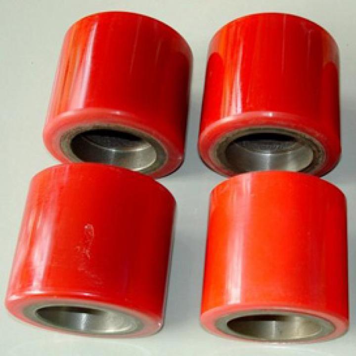 Bánh xe nâng tay thấp PU 80x70 mm