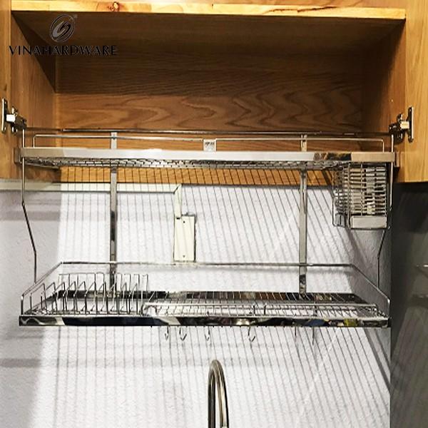 Kệ chén dĩa âm tủ Inox 304 VN SP00106 (Bộ)