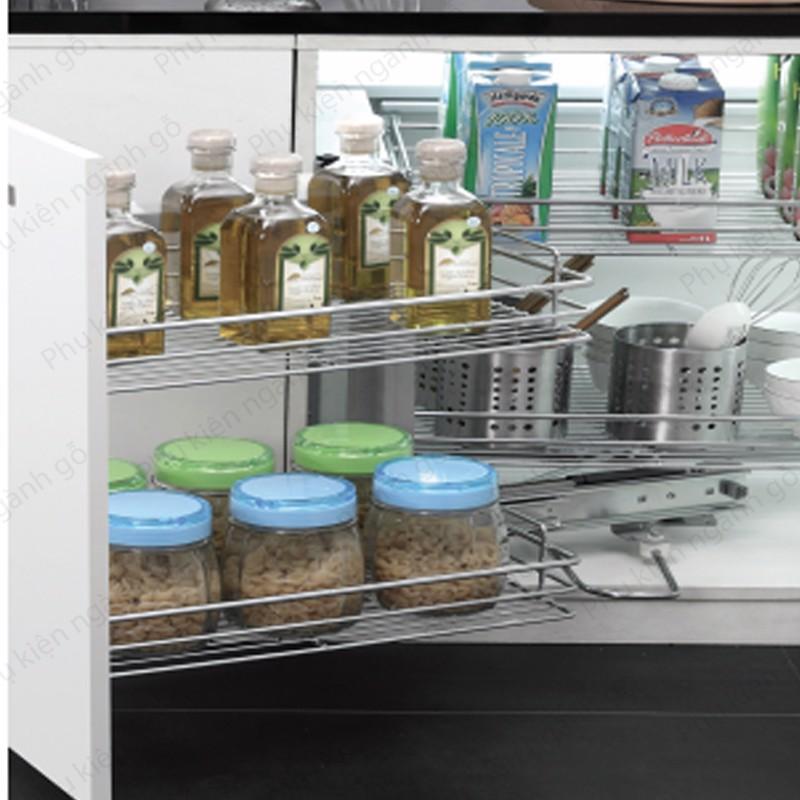 Giá kệ để gia vị thực phẩm loại mở cánh và âm tủ dạng nan bên trái SP002338 (Bộ)