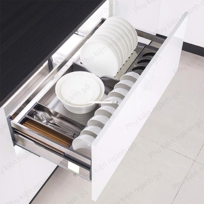 Giá kệ chén đĩa inox hộp gắn cánh (nhiều loại) VNR SP002557