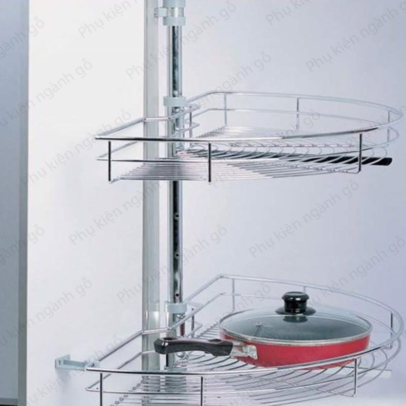 Giá kệ chén đĩa xoong nồi gia vị loại mâm xoay rổ VNR 715*565mm SP002562