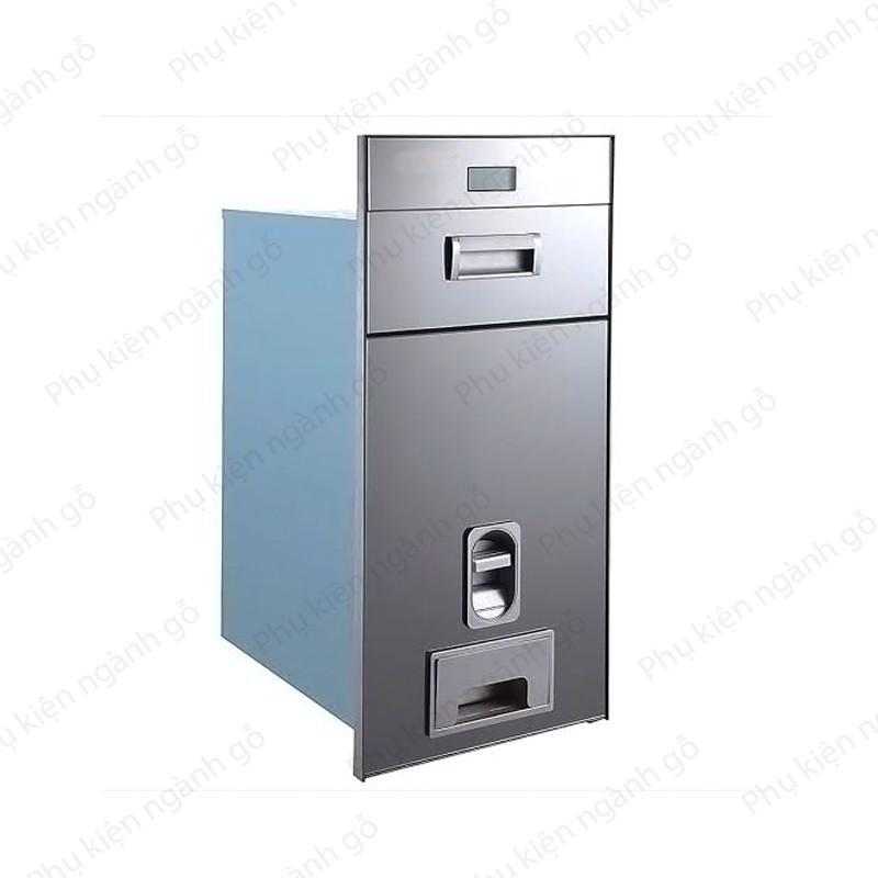 Thùng đựng gạo gương trắng âm ngăn kéo tủ rộng (nhiều loại) SP002583