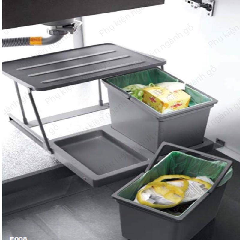 Thùng đựng rác thông minh cao cấp rộng 400mm SP002586