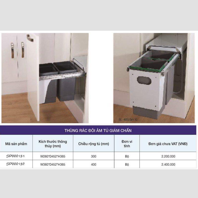 Thùng đựng rác âm tủ cao cấp SP000151