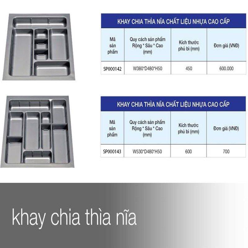 Khay để chia thìa muổng nĩa nhựa cao cấp SP000142