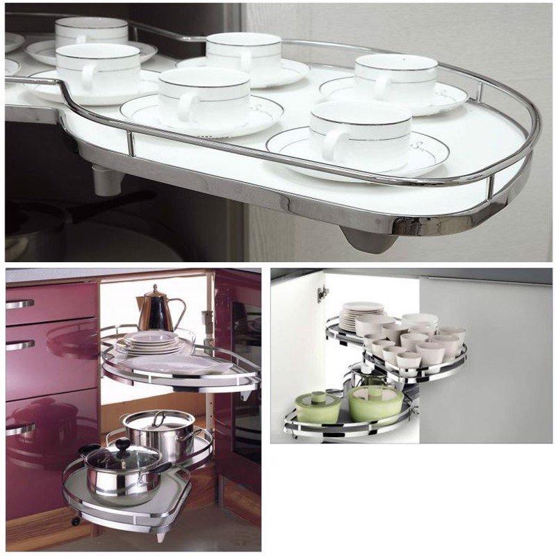Giá kệ để chén dĩa mâm xoay hình lá tủ rộng SP000123
