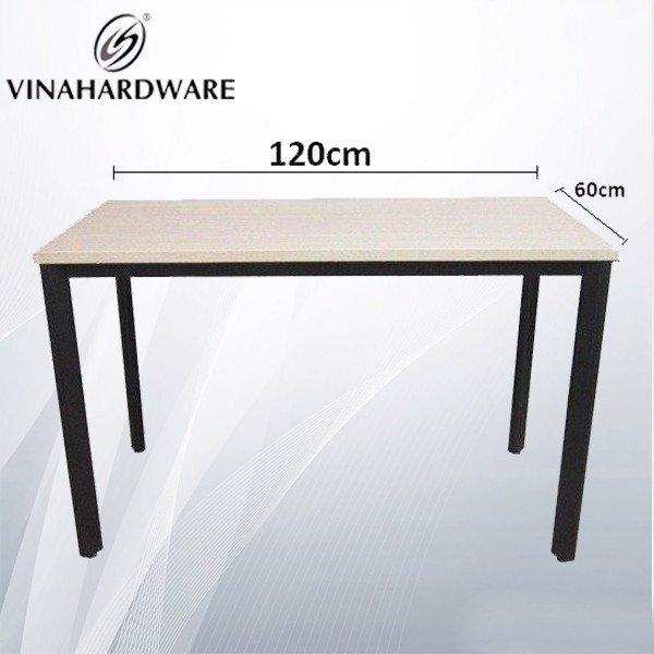 Khung bàn sắt oval đen 600x1200mm văn phòng loại khung dành cho mặt bàn VNH286089