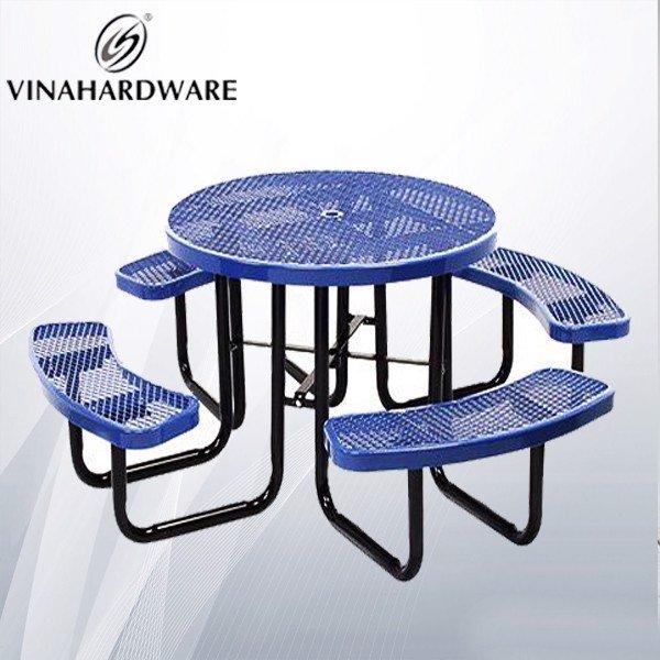 Bộ bàn ghế sắt sơn tĩnh điện ngoài trời VNH2923436