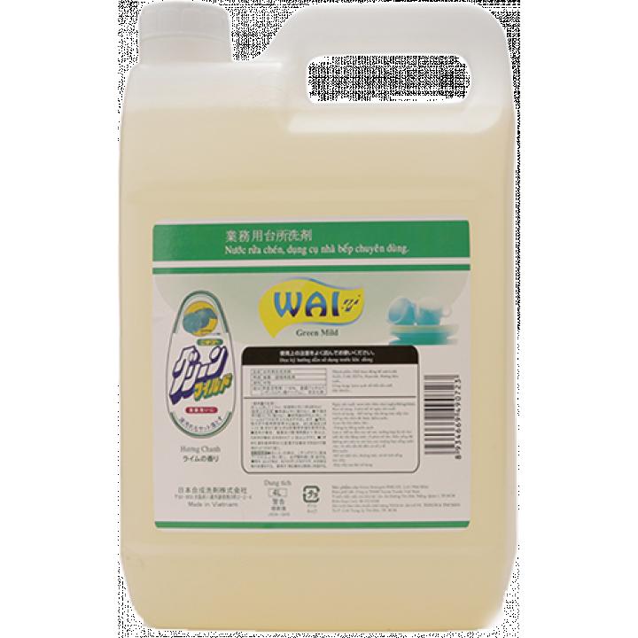 Nước rửa chén Wai Green Mild 4L