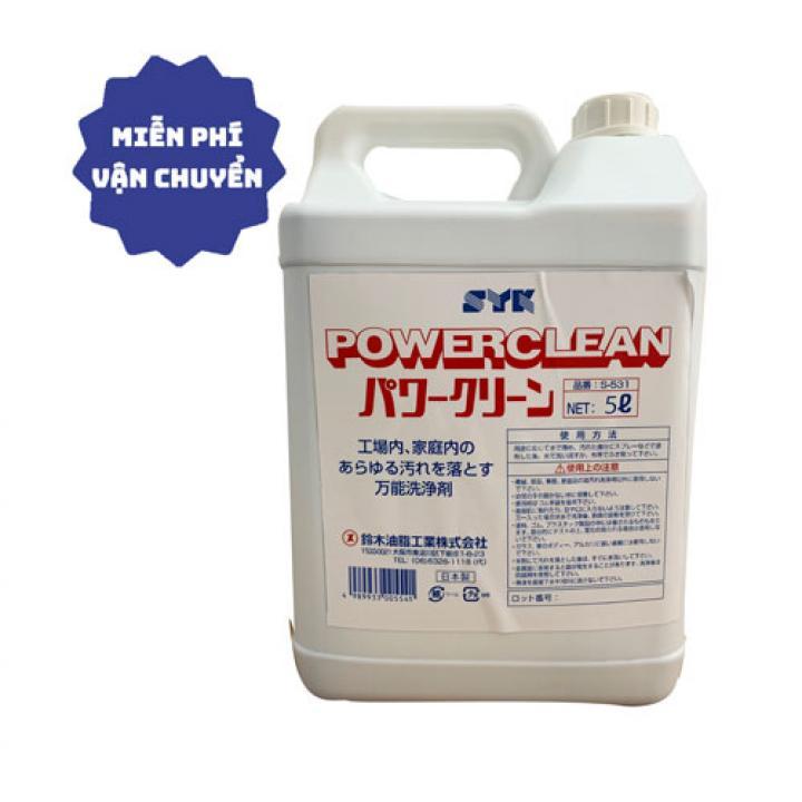 Hoá chất tẩy rửa công nghiệp SYK Power Clean 5L đậm đặc - Có thể pha loãng 1:50