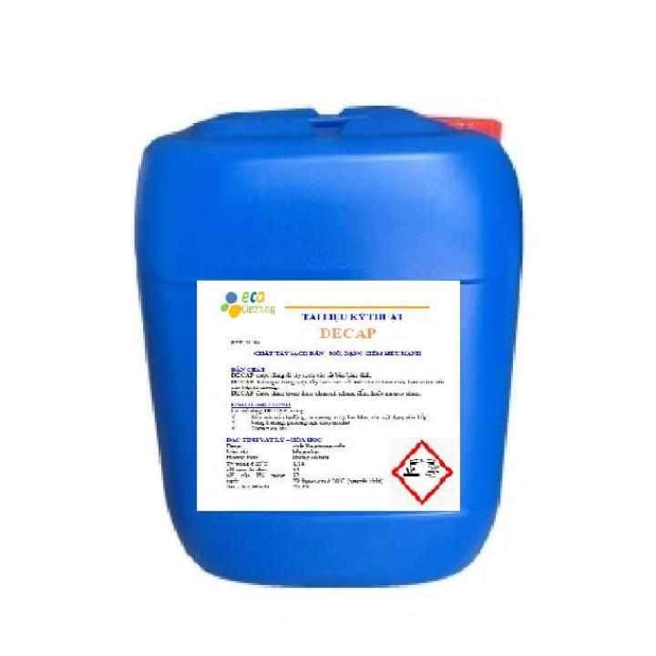 Chất tẩy dầu mỡ dính trên bề mặt sàn, thiết bị Ecoguard DECAP  30kg