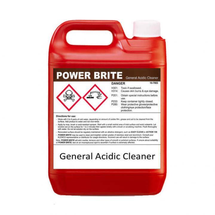 Nước lau sàn, tẩy cặn rỉ Klenco Power Brite 5L