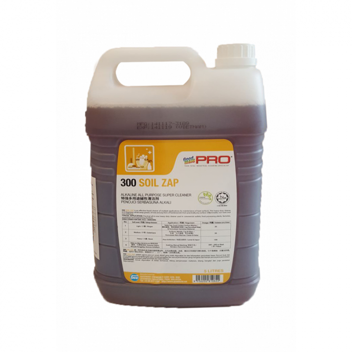 Nước lau sàn đa năng gốc kiềm Goodmaid PRO GMP 300 Soil Zap 5L