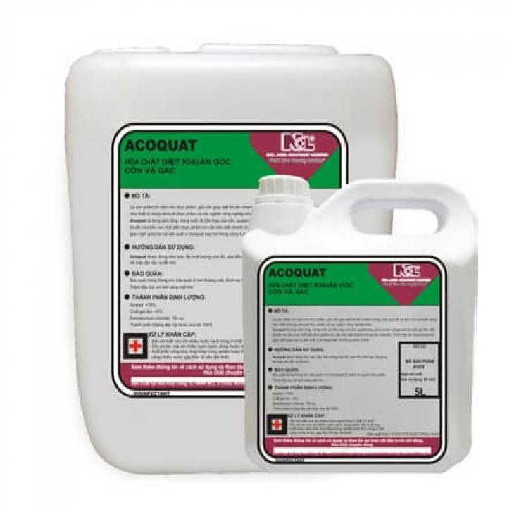 Hóa chất diệt khuẩn gốc cồn và QAC NCL ACOQUAT 5L