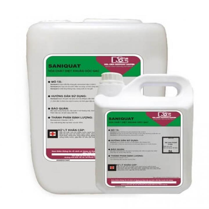 Hóa chất diệt khuẩn gốc QAC NCL SANIQUAT 5L