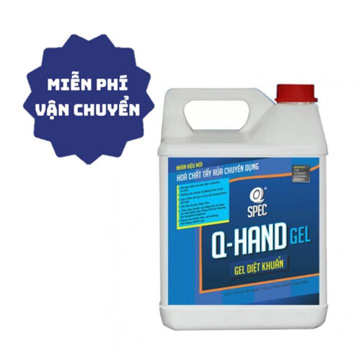 Gel rửa tay khô diệt khuẩn AVCO Q-Hand Gel 4L - Chứng nhận bởi viện Pasteur