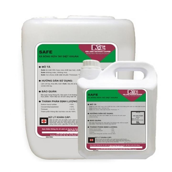 Xà phòng rửa tay diệt khuẩn (màu xanh) NCL SAFE 5L