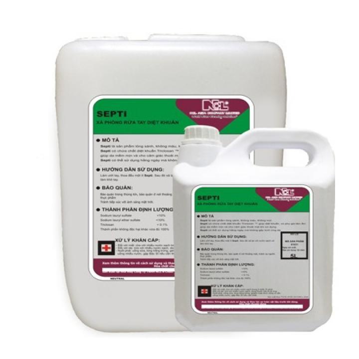 Xà phòng rửa tay diệt khuẩn (Không màu) NCL SEPTI 5L