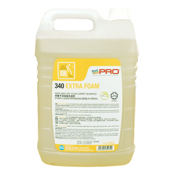 Hóa chất giặt thảm Goodmaid PRO GMP 340 5L (Hương hoa oải hương) - giặt ướt tạo bọt