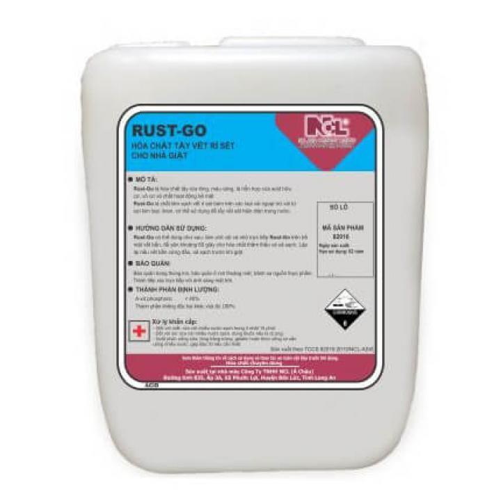 Hóa chất tẩy vết rỉ sét cho nhà giặt NCL Rust Go 20L