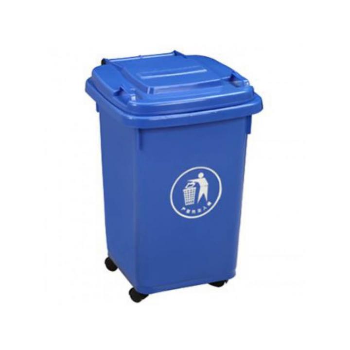 Thùng rác nhựa xanh dương Vietclean B-60B 60L