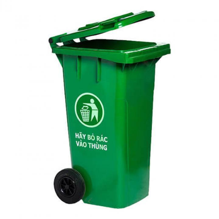 Thùng rác nhựa xanh lá Vietclean B-120 120L