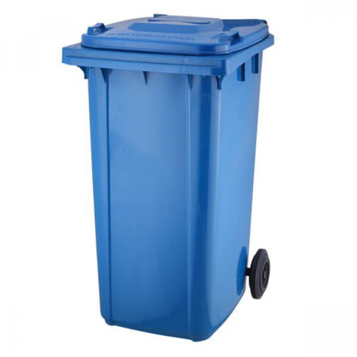 Thùng rác nhựa xanh dương Vietclean B-120B 120L