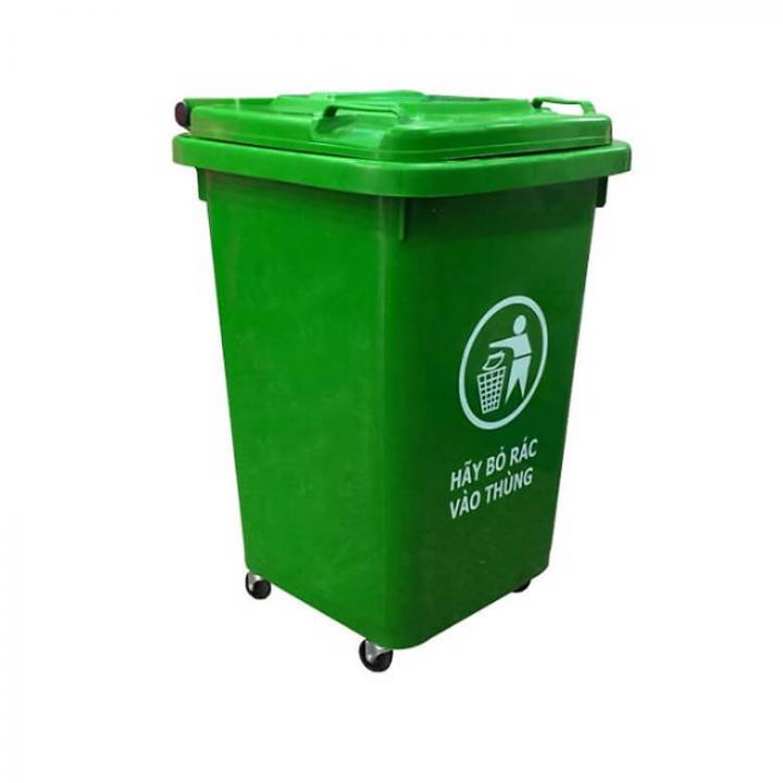 Thùng rác nhựa xanh lá Vietclean B-60 60L