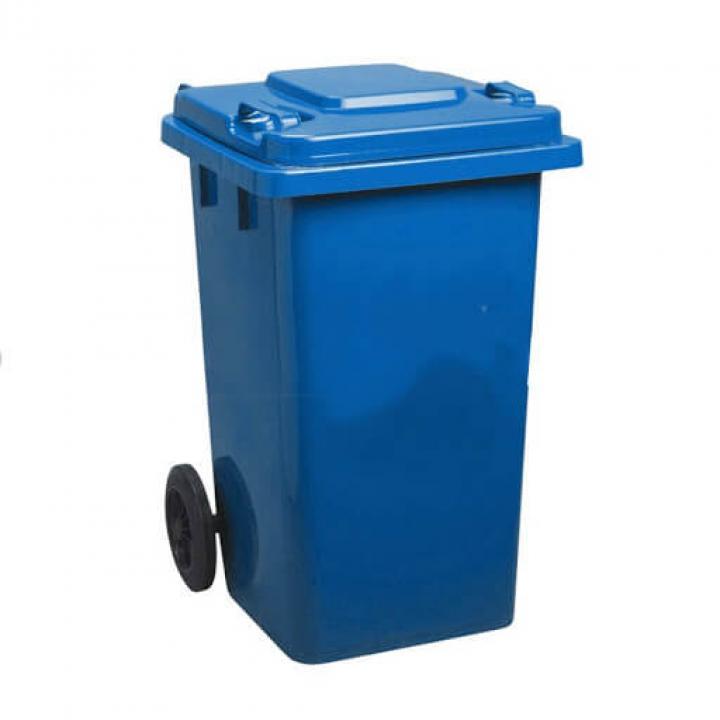 Thùng rác nhựa xanh dương Vietclean B-240BT 240L