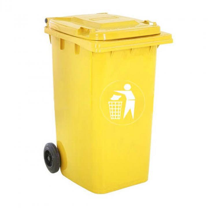 Thùng rác nhựa vàng Vietclean B-240YT 240L