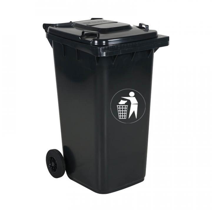 Thùng rác nhựa xám đen Vietclean B-240GT 240L