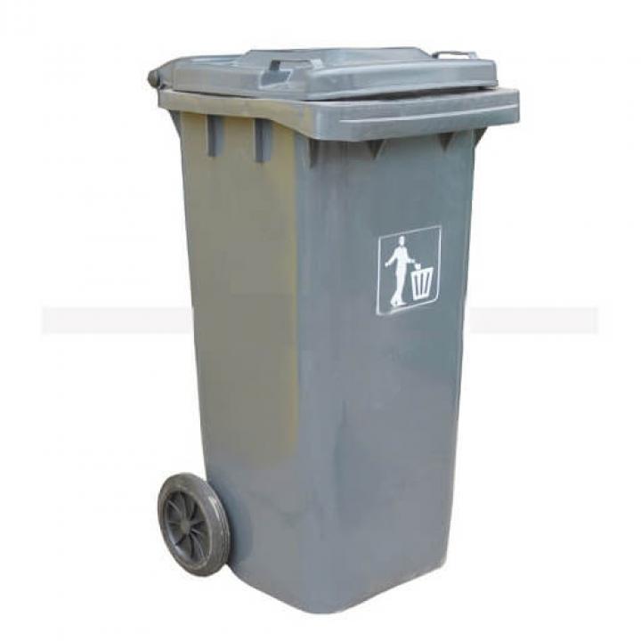 Thùng rác nhựa xám nhạt Vietclean B-240LGT 240L
